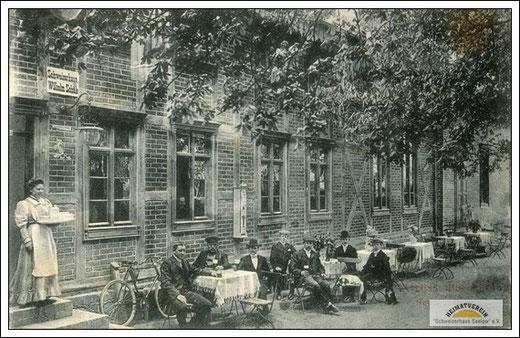 """gut besuchtes Gartenlokal """"Schweizerhaus"""""""